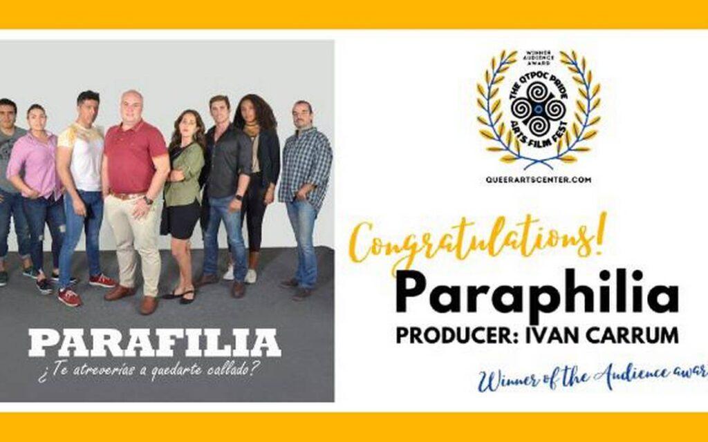 'Parafilia' de Iván Carrum es galardonado en Estados Unidos